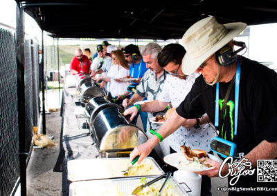 Cujo's Big Smoke BBQ cooking it up for Monster Energy